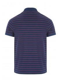 Mens Navy Stripe Polo Shirt