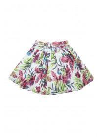 Younger Girls Tropical Print Skirt