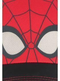 Younger Boys Black Spiderman Baseball Hat