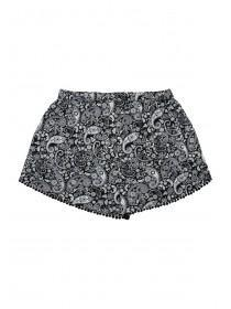 Older Girls Monochrome Paisley Pom Shorts