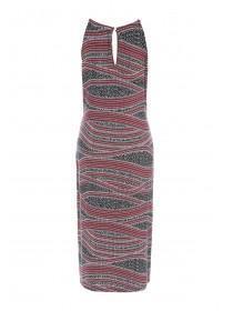 Womens Patterned Midi Dress