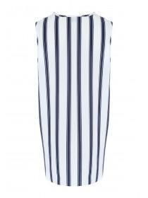 Womens Navy Stripe Sleeveless Top