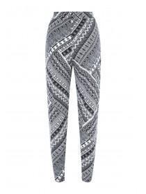 Womens Monochrome Aztec Print Trousers