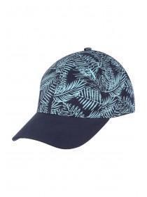 Mens Navy Leaf Cap