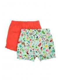 Baby Girls 2pk Jungle Shorts