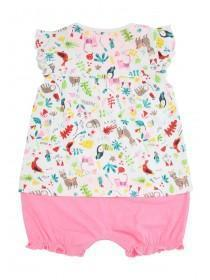 Baby Girls Llama Print Romper Suit
