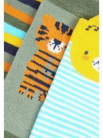 Baby Boys 3pk Animal Socks