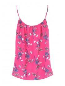 Womens Pink Floral Cami Top