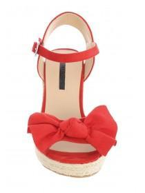Womens Red Espadrille Wedges