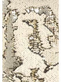 Womens Gold Flip Sequin Cushion