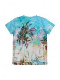 Older Boys Blue Cali Surf T-Shirt