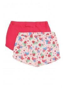 Baby Girls 2pk Pink Elephant Shorts