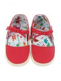 Baby Girls Red Bow Espadrille Shoes