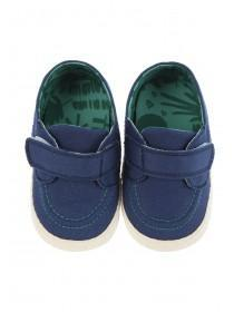 Baby Boys Navy Strap Espadrille Shoes