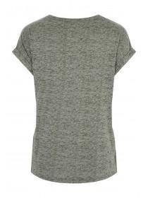 Womens Khaki Burnout T-Shirt