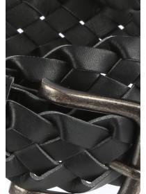 Mens Black Woven Belt