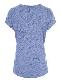 Womens Indigo Paisley T-Shirt