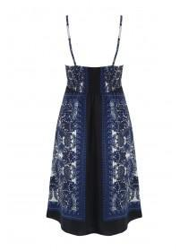 Womens Blue Slip Dress