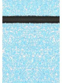 Womens Blue Glitter Vanity Case
