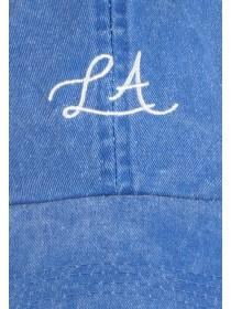 Womens Blue LA Slogan Cap