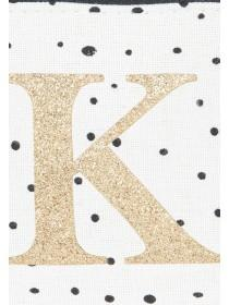 Womens White K Initial Coin Purse