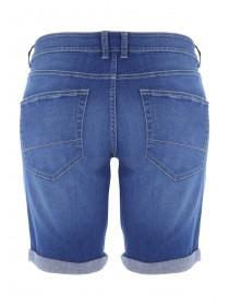 Mens Bright Blue Denim Shorts