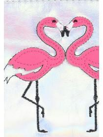 Womens Silver Flamingo Coin Purse