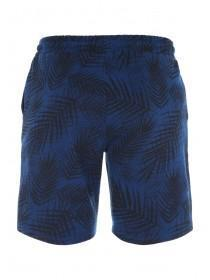 Mens Blue Leaf Sweat Shorts