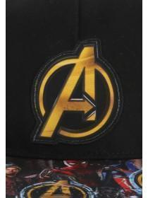 Older Boys Black Avengers Snapback Hat