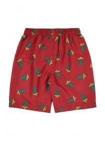 Older Boys Red Cactus Board Shorts