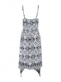 Womens Monochrome Hanky Hem Dress
