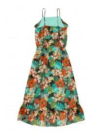 Older Girls Tropical Maxi Dress