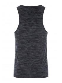 Mens Black Textured Vest Top