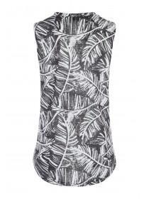 Womens Monochrome Palm Vest Top