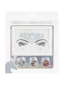 Womens Silver Glitter Make Up Set