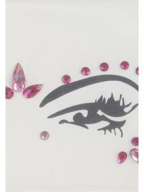 Womens Pink Glitter Make Up Set