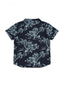 Younger Boys Blue Palm Shirt