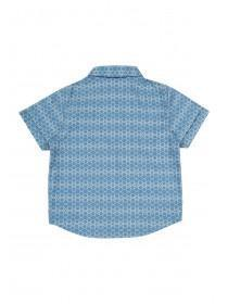 Younger Boys Navy Aztec Shirt and Short Set