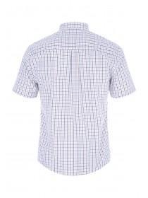 Mens Blue and Yellow Check Shirt