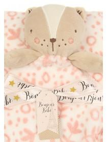 Baby Girls Pink Bear Comforter Set