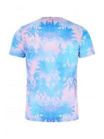 Mens Blue Palm T-Shirt
