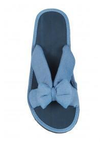 Womens Blue Cross Strap Bow Sandals