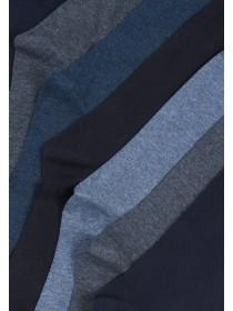 Mens 7pk Basic Blue Socks