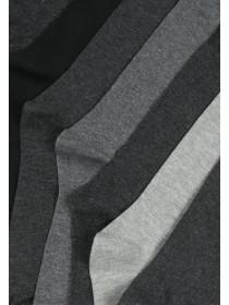 Mens 7pk Basic Grey Socks