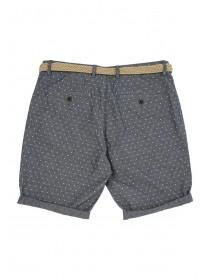 Mens Light Blue Chambray Jacquard Shorts