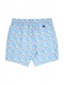 Mens Yellow Printed Retro Swim Shorts