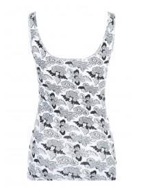 Womens Monochrome Paisley Vest