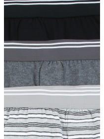 Boys 3pk Grey Stripe Loose Fit Boxers