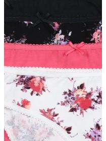 Womens Floral High Leg 4PK Briefs
