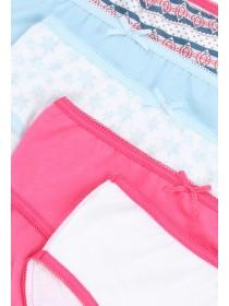 Younger Girls 5pk Pink Llama Briefs